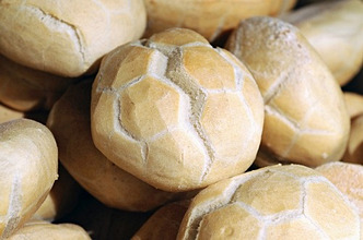 Italian bread rolls in a bakery
