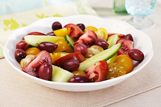 Heirloom Tomato and Olive Salad