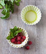 Partially Made Mini Raspberry Mint Tart, From Above