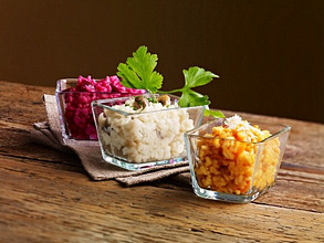 Risotto served three ways