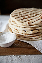 Naan bread with salt
