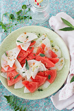 Watermelon and Radish Salad with Fresh Sage