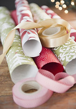 Wrapping papers and ribbons