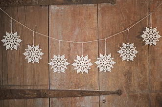 Christmas ornaments on door