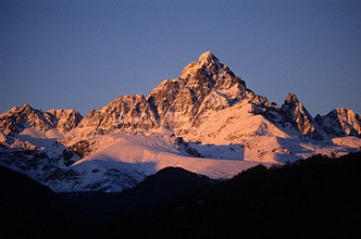 Monviso mountain, Po valley, Ostana, Piedmont, Italy.