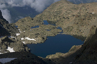 Forciolline lake and Boarelli bivouac, Pontechianale, Varaita Valley, Cuneo, Piedmont, Italy, Europe