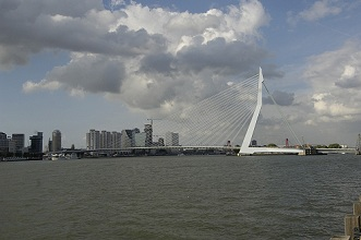 Erasmusbrug; Erasmus bridge, Rotterdam, Netherlands, Europe