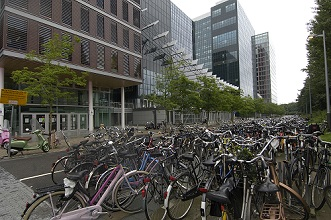 Bicycles parking, Amsterdam, Netherlands, Europe