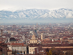 Turin, view of the city from the Mole Antonelliana tower, Turin, Piedmont, Italy, Europe