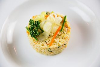 Rice with vegetables, carrots, zucchini and parsley, Tuscany, Italy, Europe