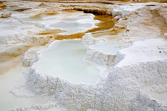Mammoth Hot Springs, Yellowstone National Park, Wyoming, United States of America (USA), North America