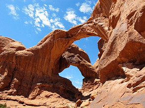 Double Arch, Arches National Park, Moab, Utah, USA
