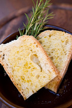 tuscany bread with salt and olive oil