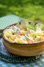 Pasta with smoked salmon, Lombardy, Italy