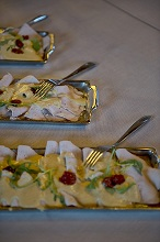 Vitello tonnato or vitel toné, traditional Christmas dish