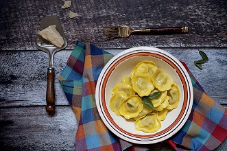 Tortelli with spinach,Italy,Europe