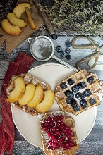 Waffles with fresh berries,Europe