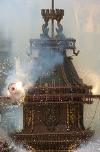 Scoppio del Carro, Explosion of the Carriage,Easter Sunday, Florence,Tuscany,Italy, Europe
