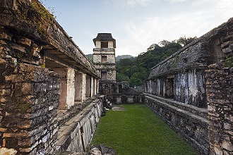 The Palace, Palenque archeological site, Palenque National Park, Chiapas, Mexico, North America
