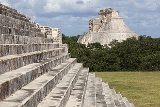 Pyramid of the Magician, Uxmal archeological site, Yucatan, Mexico, North America