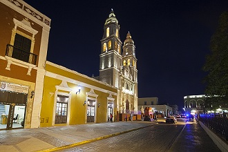 Cathedral of Campeche, State of Campeche, Mexico, North America