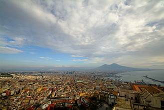 Cityscape from Castel Sant'Elmo Castle, Naples, Campania, Italy, Europe