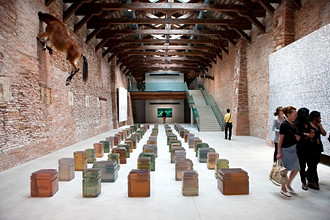 One Hundred Spaces, work of Rachel Whiteread, 53rd Biennial Exhibition of Modern Art, Venice, Veneto, Italy