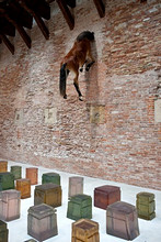 One Hundred Spaces, work of Rachel Whiteread, and a Maurizio Cattelan, 53rd Biennial Exhibition of Modern Art, Venice, Veneto, Italy