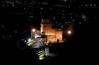 Rock of Assisi, Night Landscape, Umbria, Italy, Europe