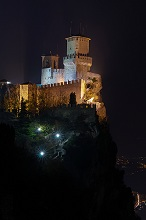 The Fortress of Guaita at Night, San Marino, Republic of San Marino, Europe