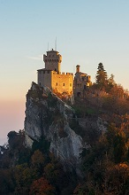 La Guaita fortress, Monte Titano, Republic of San Marino, Europe
