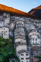 National Park of Abruzzo, View of Scanno, Abruzzo, Italy, Europe