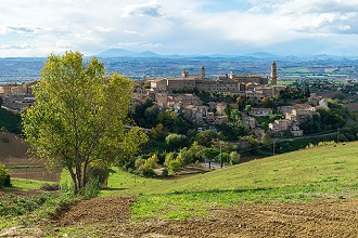 View of Morrovalle, Marche, Italy, Europe