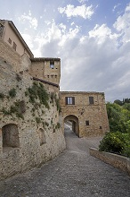 View from upper city, Grottammare, Castle, Marche, Italy, Europe
