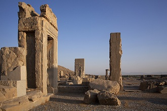 Apadana Palace of Emperor Darius the Great, Persepolis, 'The city of the Persians', Fars Province, Iran, Middle East