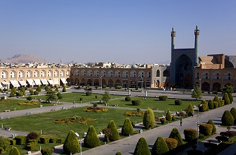 Imam Square or Naqsh-e-Jahàn and Shah Mosque, Isfahan, Iran, Middle East