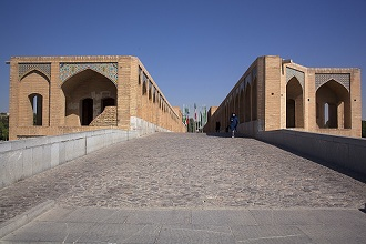 The Khaju Bridge over Zayandeh River at Isfahan; Iran, Middle East