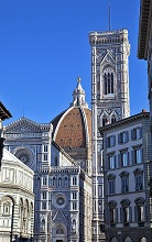 Cattedrale di Santa Maria del Fiore cathedral and Baptistery, Piazza del Duomo square, Florence, Tuscany, Italy