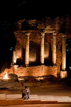 Ancient theatre of Taormina, Sicily, Italy, Europe