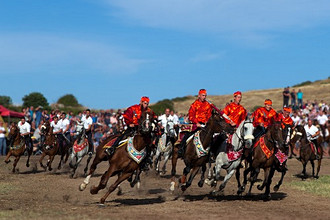 Ardia traditional horse race, Sedilo, Sardinia, Italy, Europe