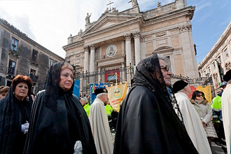 The Festival of Saint Agatha is the most important religious festival in Catania, Sicily, Irtaly, Europe