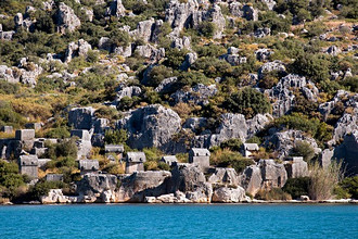 Lycia coast, archeological site, Turkey, Asia Minor