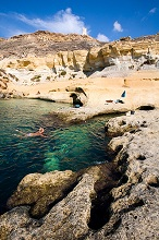 Gnejna Bay, Malta island, Republic of Malta, Mediterranean sea, Europe