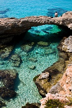 Blue Lagoon, Gozo island, Malta island, Republic of Malta, Europe