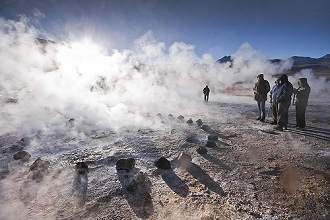El Tatio geyser, Andes Mountains, San Pedro de Atacama, Atacama Desert, Chile, South America