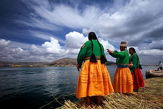 Floating Island, Uros people, Puno, Peru, Soth America