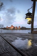 Trakai Island Castle, Galve Lake, Trakai, Lithuania, Europe