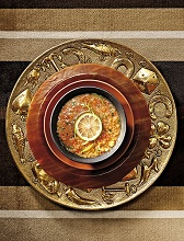 Red lentils soup with lemon zest, Italy, Europe