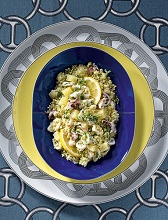 Cous Cous with calamari and potatoes, Sicily, Italy, Europe