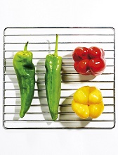 grilled capsicum red and yellow peppers